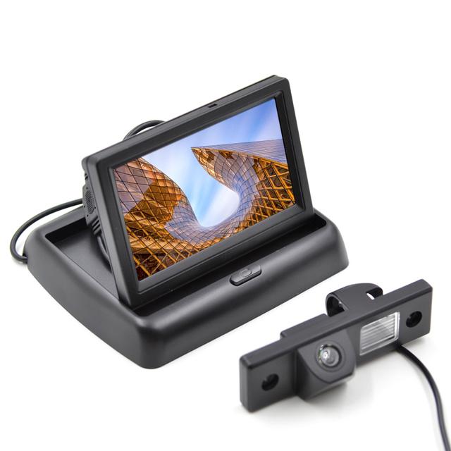 Especial Câmera de Visão Traseira Do Carro para CHEVROLET CRUZE com 4.3 Polegada Dobrável Carro Monitor Do Carro Monitor de Estacionamento de Backup