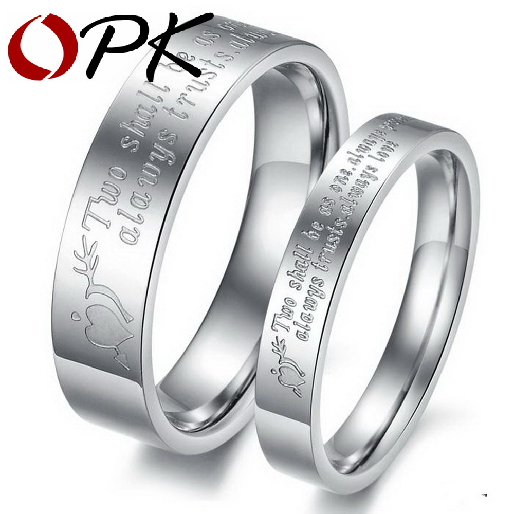 his and hers promise ring sets Engagement Couple Stainless Steel Rings Lovers