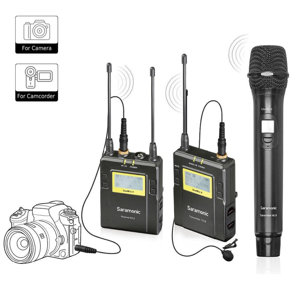 Saramonic UWMIC9 Sans Fil Cravate + De Poche Système Microphone avec Émetteur de poche + Lav Mic, De Poche Mic avec Émetteur