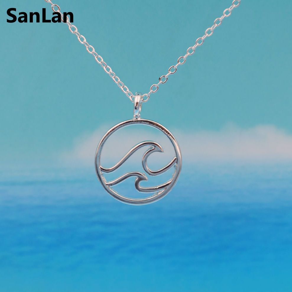 pendant jewelry bracelet ocean sand canaveral beach charm bangle cape with wave clearwater silver