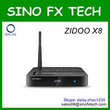 Zidoo x8 android tv box android 6.0 quad core realtek rtd1295 2g/8g 4 karat ultra hd smart media player kostenloser versand(China (Mainland))