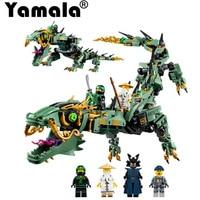 Yamala 592pcs Movie Series Flying Mecha Dragon Building Blocks Bricks Toy Children Model Compatible With
