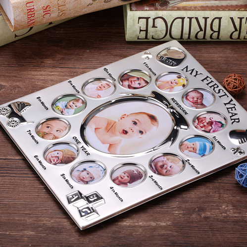 Image 3 - My First Year Baby Gift Kids Birthday Gift Home Family Decoration Ornaments 12 Months Picture Photo Frame Free Customized photo-in Frame from Home & Garden