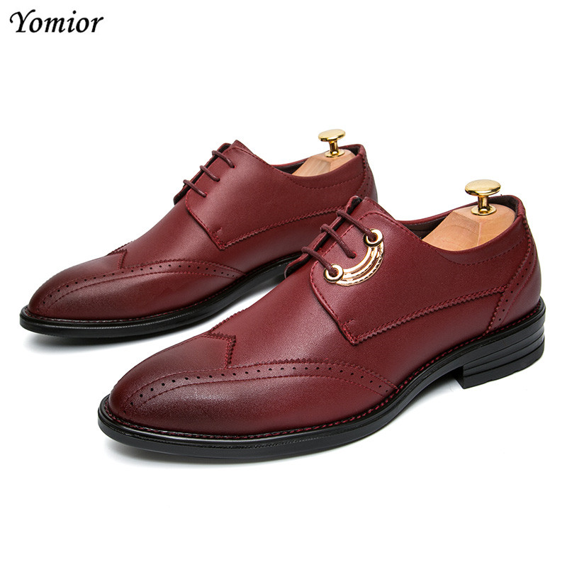 Yomior Fashion Leather Shoes Men Casual Designer Formal Men Dress Shoes Classic Brogue Shoes Flats Oxfords for Wedding Office whitesnake live in the still of the night