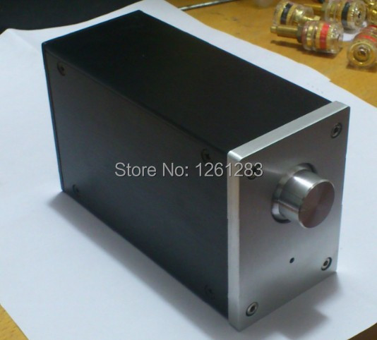 QFKJ New listing A0609 full aluminum mini power amplifier enclosure mini Vertical chassis with terminals
