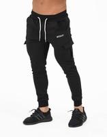 2018 Gyms Pant Mens Casual Elastic Cotton Mens Fitness Trousers Jogger Pants Workout Pants Skinny Sweatpants