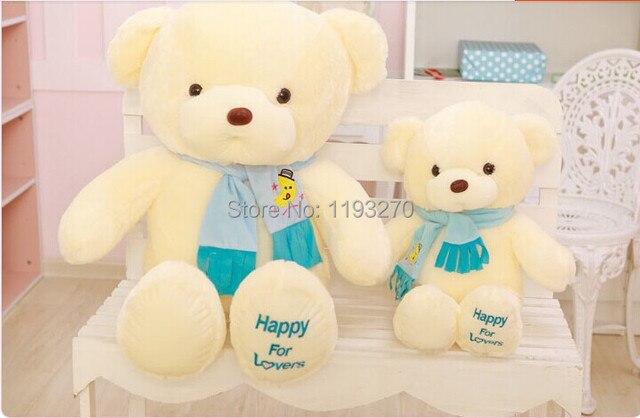 45 cm pink atau biru syal beruang mainan mewah boneka beruang hadiah boneka  w4095 b1ba259fcf