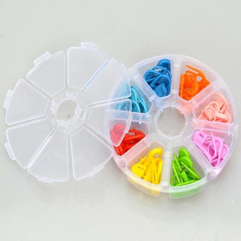 ⊹80 unids/set alta calidad colorida tejer plástico crochet locking ...