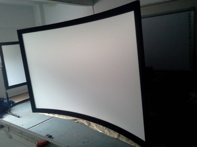 free shipping 43 150 inch large screen full hd curved fixed frame projection projector screen on sale on alibaba group