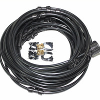 A059 18M (60feet) Air Cool Misting System for Garden Yard Cooling Water Sprayer Patio Misting