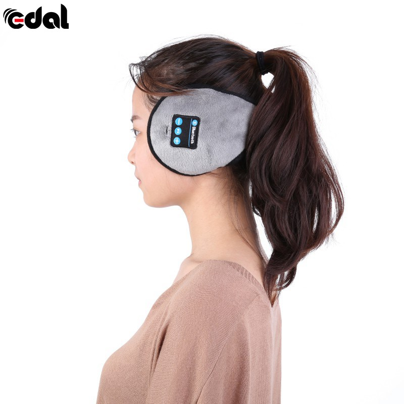 Wireless Bluetooth Headband Winter Warm Earmuffs Smart Caps Headphone Headset Speaker Mic