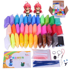 Children Day Gift 36 Colors Air Dry Clay Fimo Polymer Modelling Soft Blocks Plasticine Toys Clay