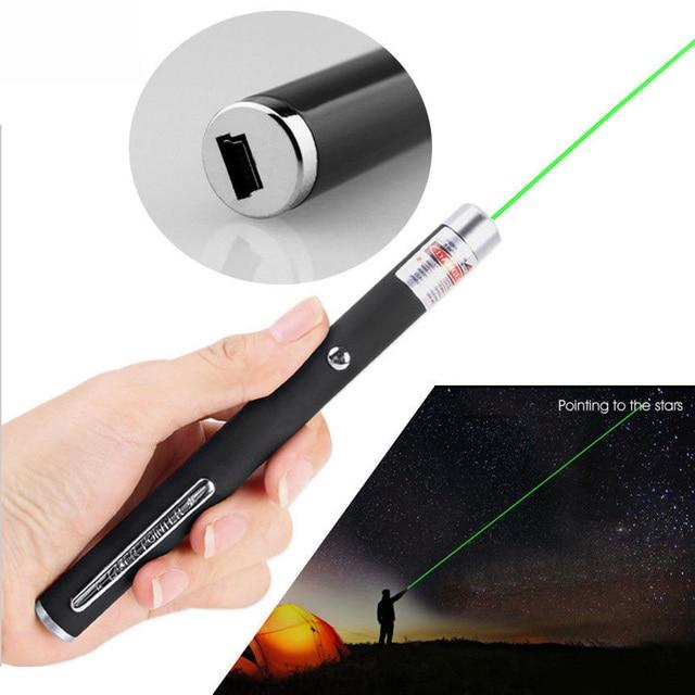 ירוק לייזר עט USB Rechargable גבוהה כוח 5 mw 532nm בהיר נקודה אחת ירוק לייזר מצביע עט