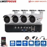LWSTFOCUS 4CH AHD Kits Security Camera CCTV System DVR DIY Kit 4x1080P Security Camera 2 0MP