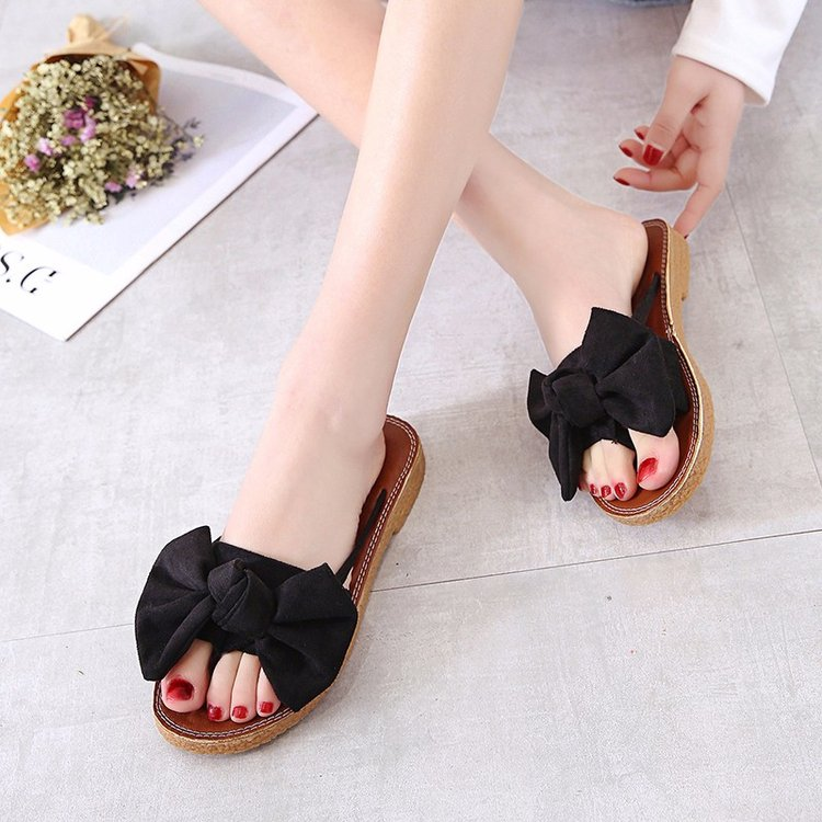 new Flat outdoor slippers Sandals foot ring straps beaded Roman sandals fashion low slope with women's shoes low heel shoes  x69 15