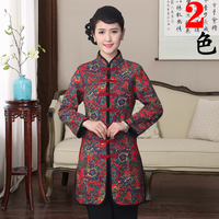 Chinese Traditional Winter Coat Women S Cotton Long Jacket Red Size M 3XL