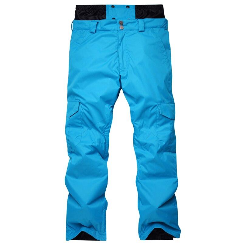Nouveauté hiver pantalon de Ski pour hommes en Nylon et Spandex remplissage de tissu respectueux de l'environnement PP coton couleur snowboard pantalon taille S-XL - 4