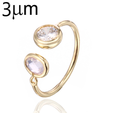 3UM April Crystal Stacking Ring Family Glass Birthstone Ring Etsy Stackable Midi Ring Double Stone AAA Zircon Handmade Jewelry