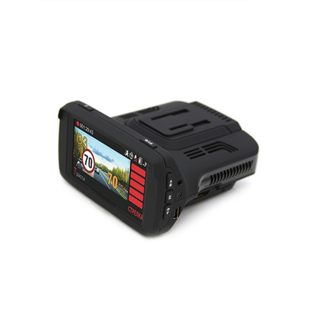 1080P HD 3 In 1 Car Radar Detectors DVR Ambarella A7 Auto GPS LDWS Video Recorder