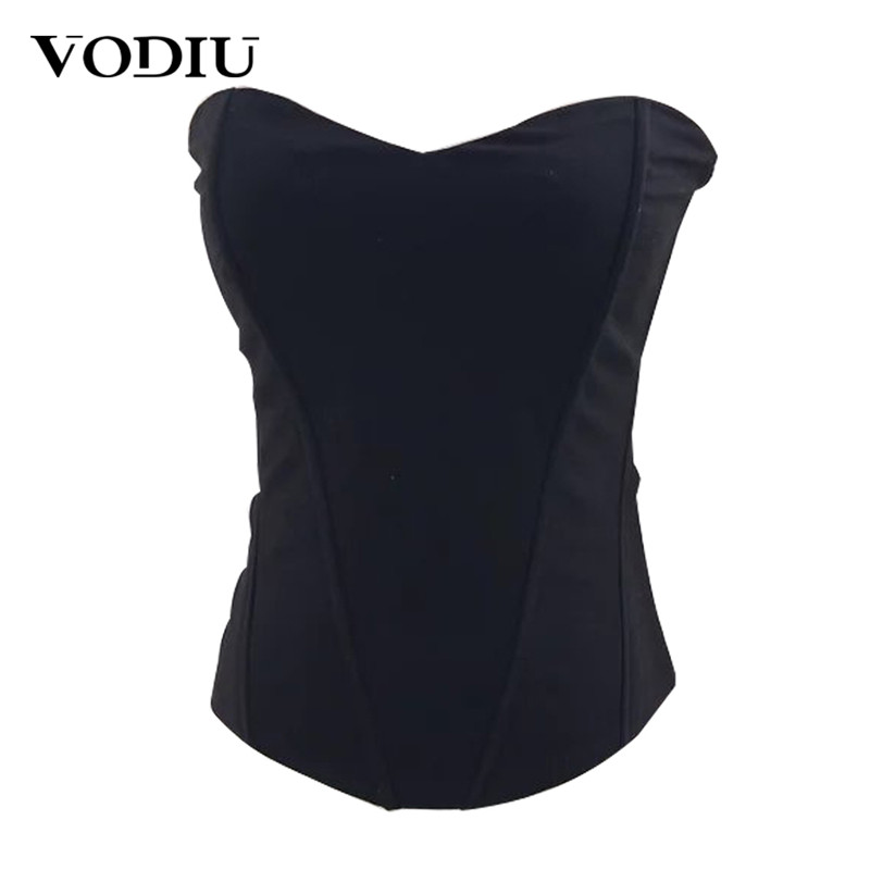 Women   Bustier     Corset   Female Sexy Slim Waist Trainer Black Bra Top For Ladies To Loss Weight 2019 Summer Women   Bustier     Corset