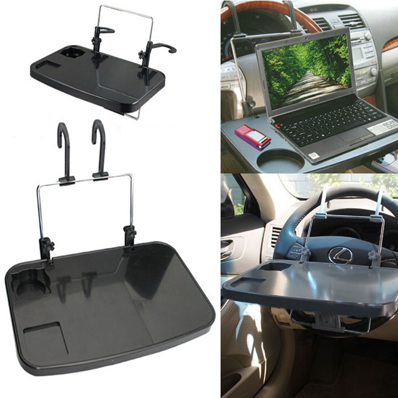 100% Brand New Car Auto Laptop <font><b>Tablet</b></font> PC For iPad <font><b>Mount</b></font> Stand <font><b>Holder</b></font> Desk Table Drink Food <font><b>Cup</b></font> Tray, Black/Gray Color, Wholesale