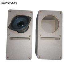 IWISTAO HIFI 3 Inch Labyrinth Full Range Speaker Empty Cabinet 1 Pair MDF Wood Board Adhesive Free Design