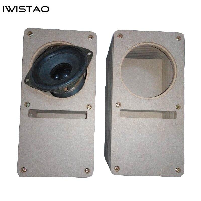IWISTAO HIFI 3 pouces labyrinthe gamme complète haut-parleur vide armoire 1 paire MDF bois planche Design sans adhésif