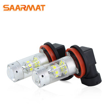SAARMAT 2pcs* Led 140W H7 H8 H11 9005/HB3 9006/HB4 P13W H16 H10/PY20D 1156 ba15s bau15s 1157 bay15d T20 7440 7443 light bulbs
