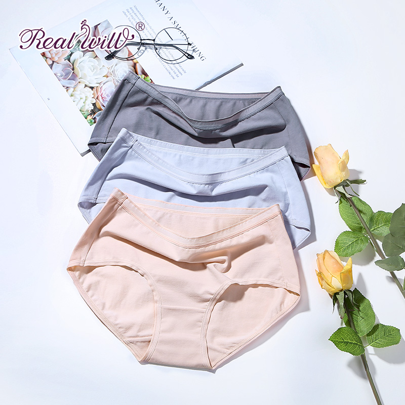 Realwill Natural Cotton Panties Cotton Panties Woman Lingerie Underwear Sexy Ladies Girls Intimate Panties Panties For Women