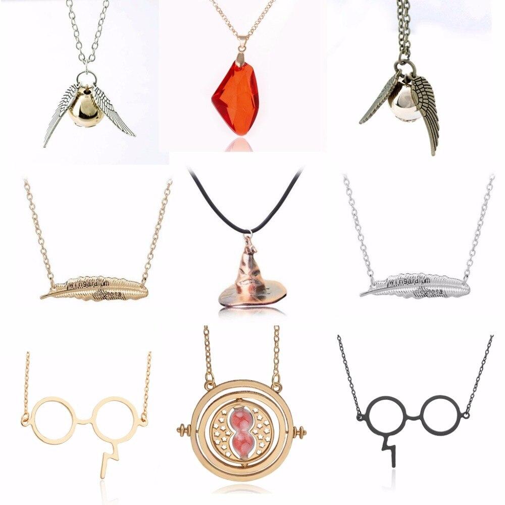 Harri Potter Magic stone necklace Pendants font b toy b font The philosopher s stone Red