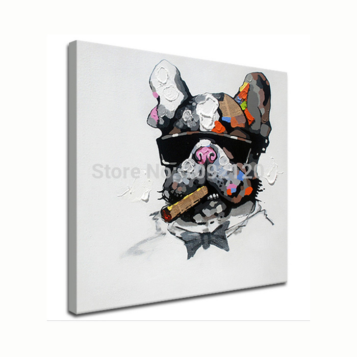 Cool Smoking Dog Hot Sell Painting Home Decor Animal Paintings Oil Picture Pop Art Decoration For Living Room