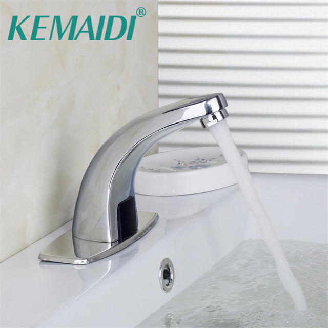 KEMAIDI Automatic Faucet Hand Touch Free Sensor Bathroom Sink Tap ...