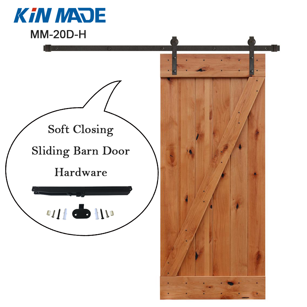 USA warehouse Soft Close Sliding Barn Door Hardware Kit For Wooden Closet Door Cabinet Door soft close mechanism furniture remission accessory for sliding barn wood door hardware