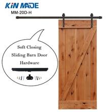 USA warehouse Soft Close Sliding Barn Door Hardware Kit For Wooden Closet Door Cabinet Door