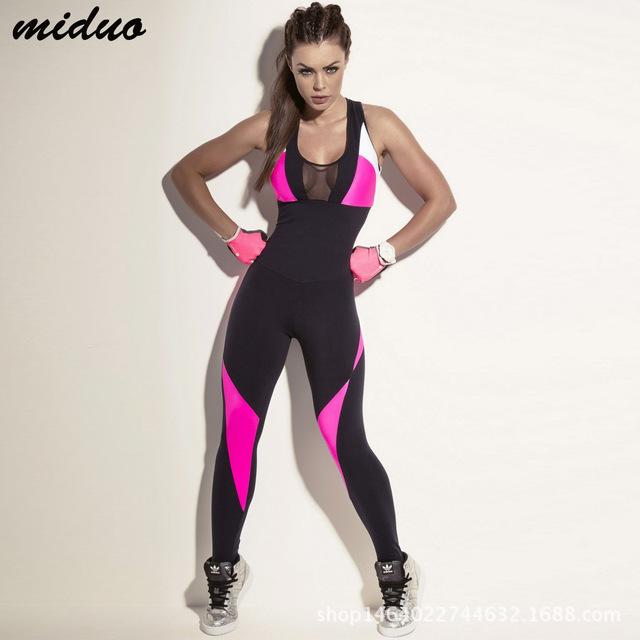 9a686af7d363c Mujeres deportes Rompers Fitness Running Jumpsuits Jogging Yoga Set gimnasio  Dance Tracksuit transpirable Quick Dry ropa