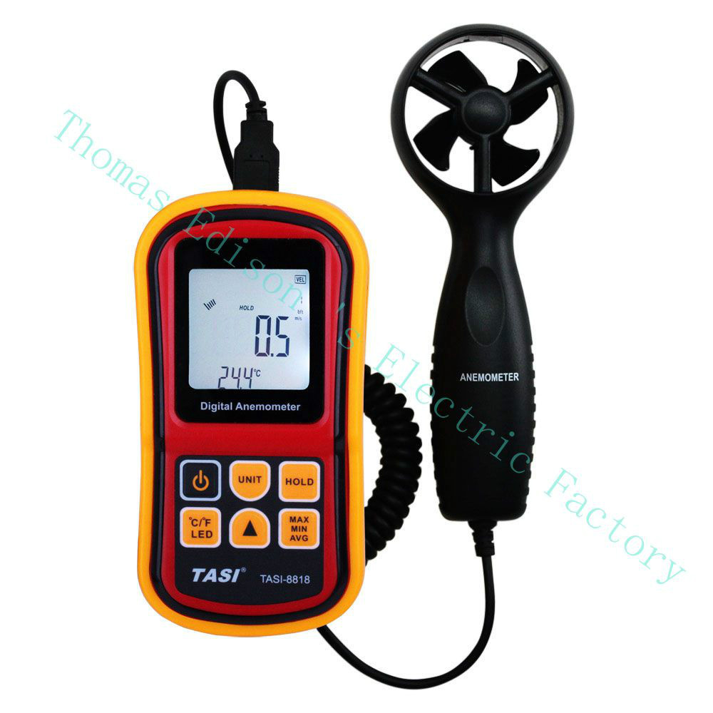 High quality TASI-8818 Anemometer Simple Handle Handheld Wind Speed Meter Thermometer the speed and temperature dual display  цены