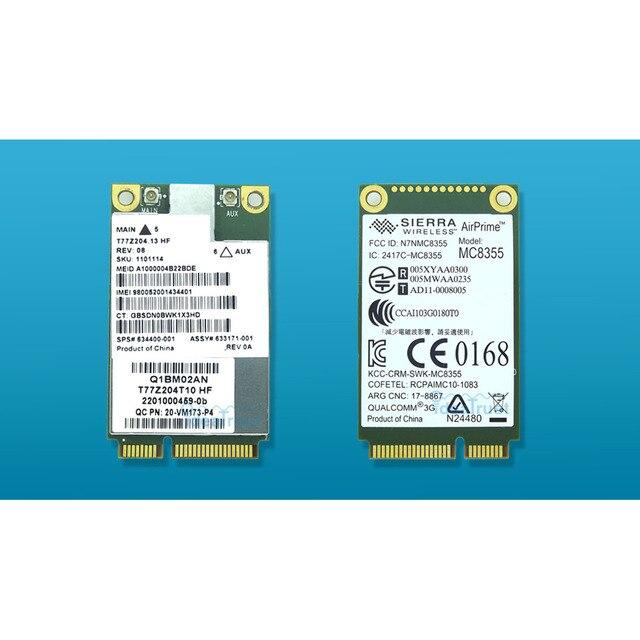 US $10 35 |MC8355 Gobi3000 3G WWAN Card HSPA+ Module network card WCDMA for  HP sps 634400 001 2170p 2560p 8460p 8560w 4540s 6460b 6570b-in Network