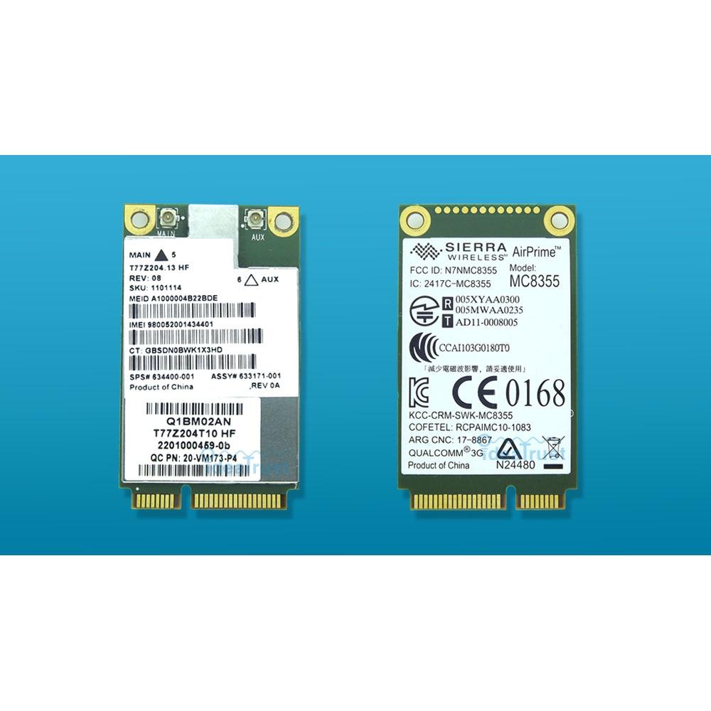 MC8355 Gobi3000 Scheda 3G WWAN HSPA + Modulo della scheda di rete WCDMA per HP sps 634400-001 2170 p 2560 p 8460 p 8560 w 4540 s 6460b 6570b
