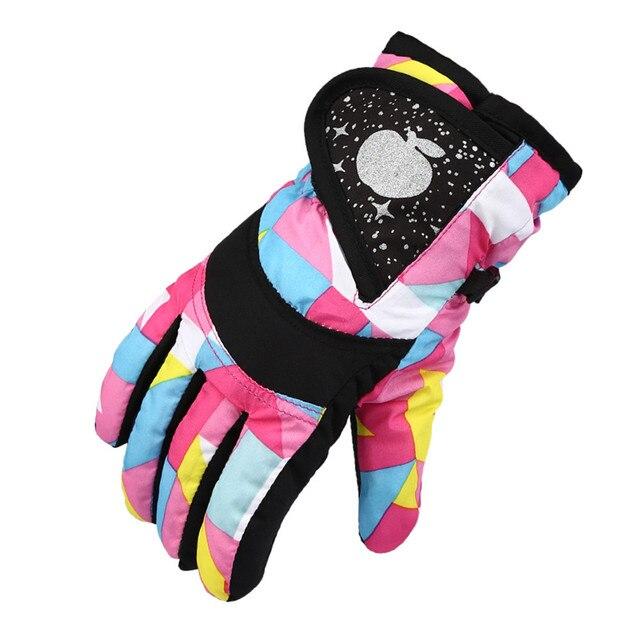 Hot Sales Winter Professional Ski Gloves Girls Boys Adult Waterproof Warm Gloves Snow Kids Windproof Skiing Snowboard Gloves 1