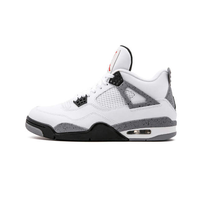 best service eafce d5f68 KFJ AIR US JORDAN 4 Gym red Basketball shoes Bulls Flu game University blue  College ovo white Dark Grey men Sport Sneakers