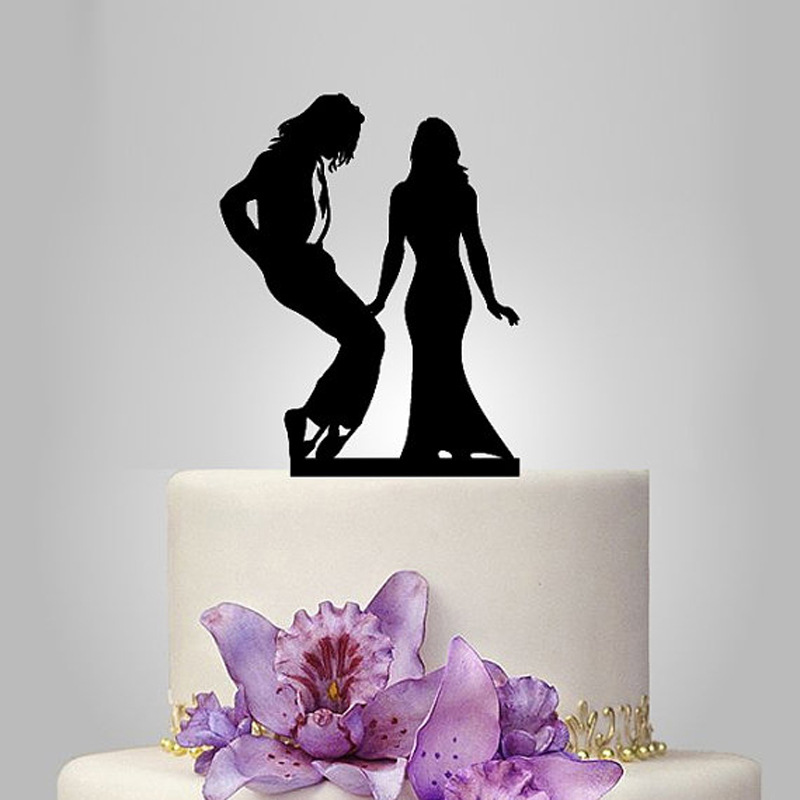 2017 Acrylic Michael Jackson And I Wedding Cake Topper/Wedding Stand/Wedding  Decoration Wedding