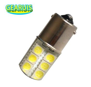 100pcs P21W S25 1156 BA15S 12 SMD 5050 LED Silicone 2W Cold White 8000K Car Crystal Turn signal light parking lights bulb 12V