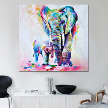 Modern abstract paintings HD print Animals painting baby animal poster watercolor Olifant Scandinavian home decor