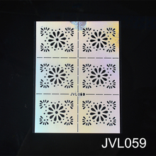 2019 New DIY Nail Vinyl Nail Art Irregular Grid Pattern Stamping Tips Manicure Template Hollow Sticker Guide