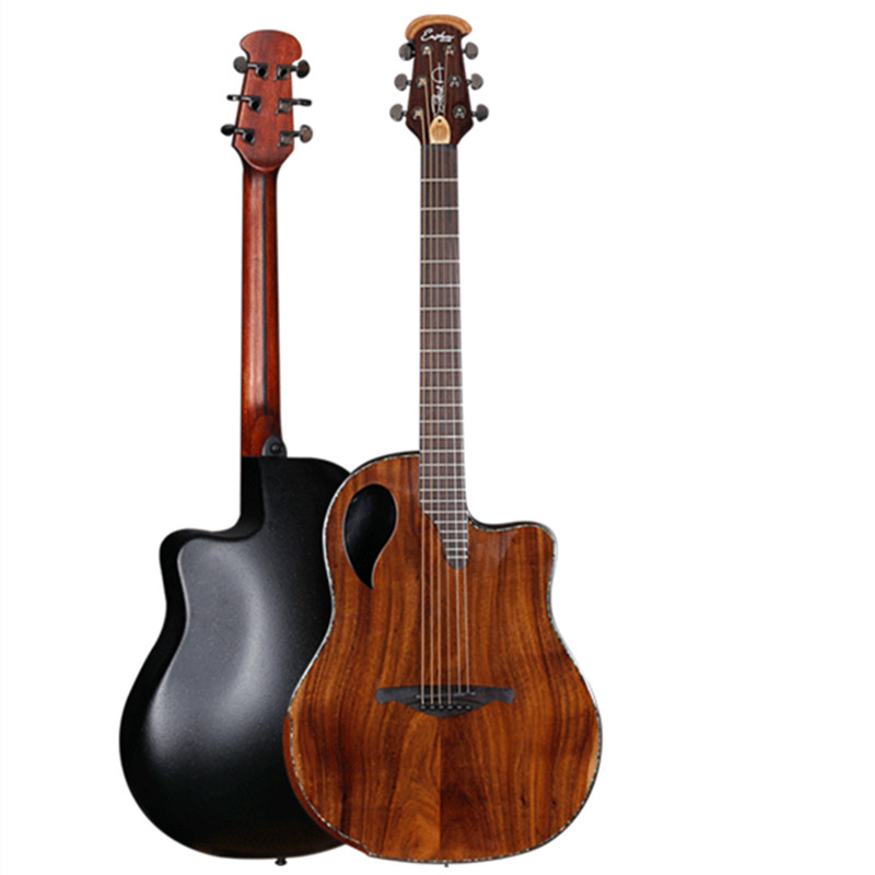 High Quality Round Back Solid Acoustic-electric Guitar with Carbide Shell with B-Band T35 Acoustic Guitarra