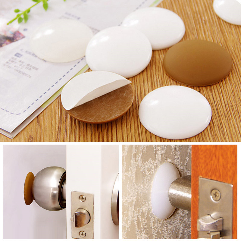 7 pcs Cabinets Door Stopper Wall Protector Refrigerator Door Silicone Wall Protectors with Self Adhesive 3M Sticker for Door Handle 2 Sizes Door Knob Guard