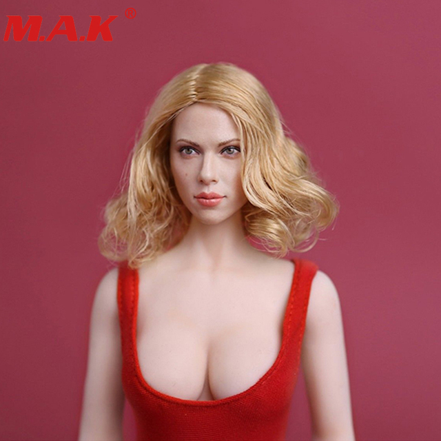 1/6 black widow scarlett Johansson short blonde hair young lady girl head sculpt for 12 inches womens bodies figures dolls