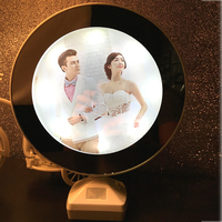 Creative 7 Inch Multi Function LED Light Photo Frame With Mirror Wedding Picture Fram Art Home