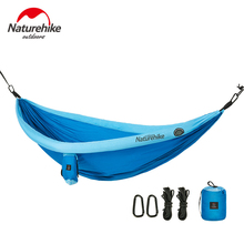NatureHike Ultralight Portable Hammock Double Person Garden Home Travel Outdoor Camping Hanging Sleeping Bed Swing Hammock недорого
