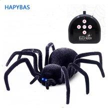 Электронный Питомец дистанционное управление моделирование Тарантул глаза блеск умный черный паук 4Ch Хэллоуин RC Tricky шалость страшная игрушка подарок